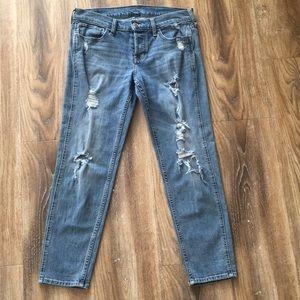 Hollister Button Fly Distressed Skinny Jeans